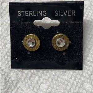 Brass .32 FC Earrings
